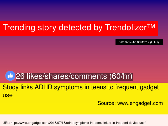 Study Links Frequent Gadget Use To >> Study Links Adhd Symptoms In Teens To Frequent Gadget Use