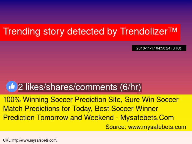 100% Winning Soccer Prediction Site, Sure Win Soccer Match