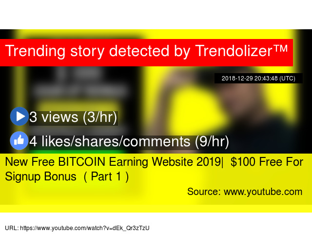 New Free BITCOIN Earning Website 2019| $100 Free For Signup Bonus