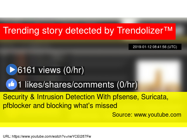Security & Intrusion Detection With pfsense, Suricata, pfblocker and