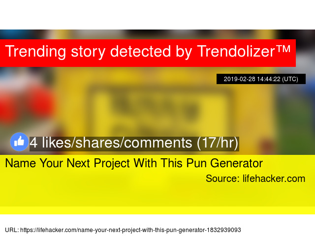 Name Your Next Project With This Pun Generator