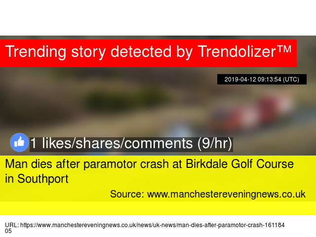 Man dies after paramotor crash at Birkdale Golf Course in