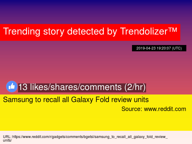 Samsung to recall all Galaxy Fold review units