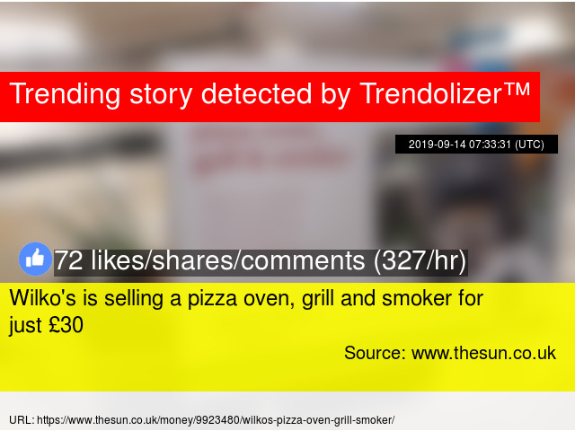 Wilkox27s Is Selling A Pizza Oven Grill And Smoker For