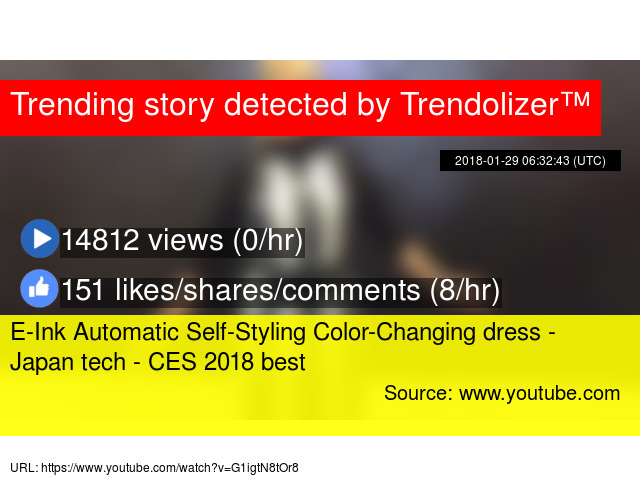 b75a35680be634 E-Ink Automatic Self-Styling Color-Changing dress - Japan tech - CES 2018  best
