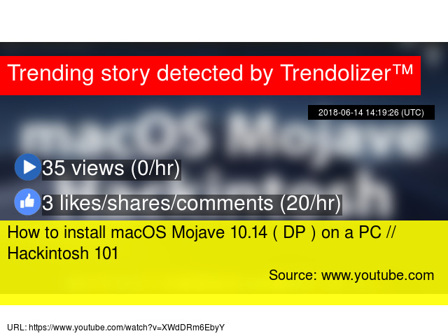 How to install macOS Mojave 10 14 ( DP ) on a PC // Hackintosh 101