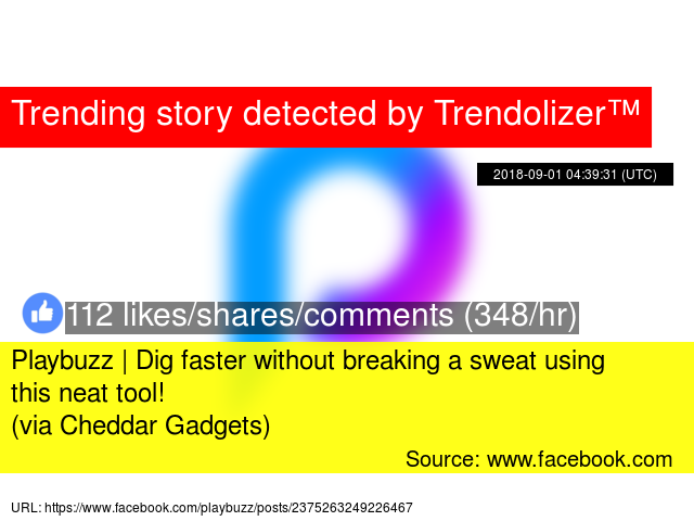 Playbuzz | Dig faster without breaking a sweat using this